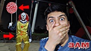 DO NOT GO TRICK OR TREATING AT 3AM!! *OMG I FOUND PENNYWISE FROM IT MOVIE IN PLAYGROUND*