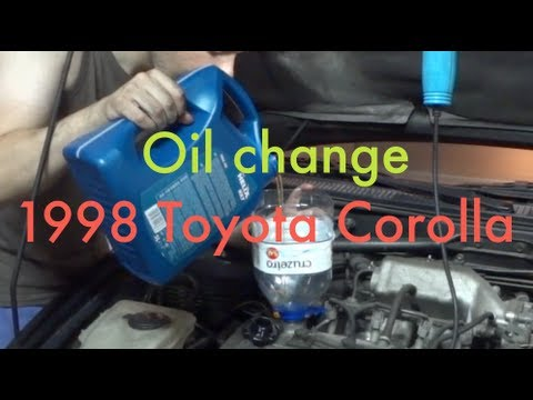 (Step by Step) Changing oil and filter. 1997-1999 Toyota Corolla G6R (4AFE Engine)