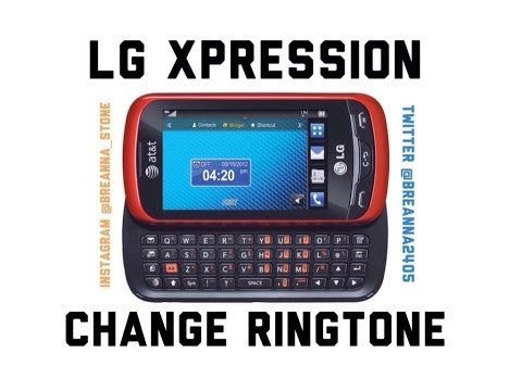 How to change ringtone on LG Xpression