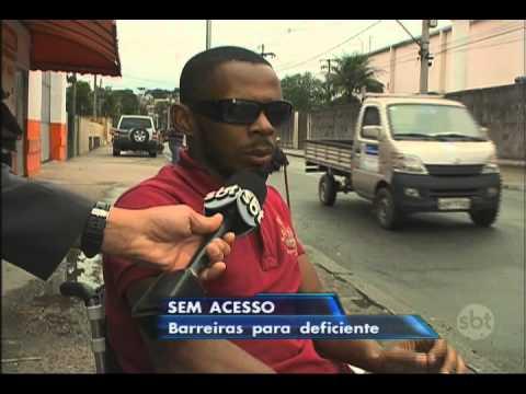 Jornal do SBT (23/07/15) Deficiente enfrenta dificuldades no transporte público do Rio