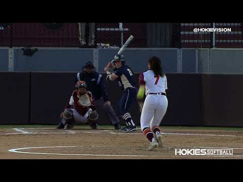 Virginia Tech Softball vs Pittsburgh DH - Play of the Game