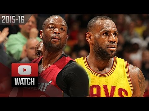 Dwyane Wade vs LeBron James EPIC Duel Highlights (2016.03.19) Heat vs Cavaliers - LEGENDS!