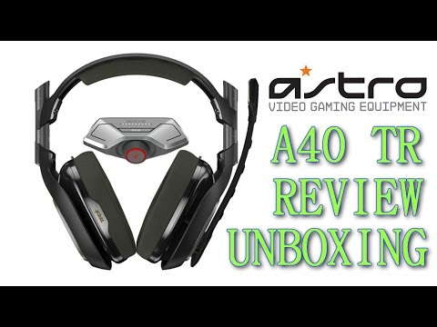 New Astro A40's Tournament Ready Headset Unboxing Review