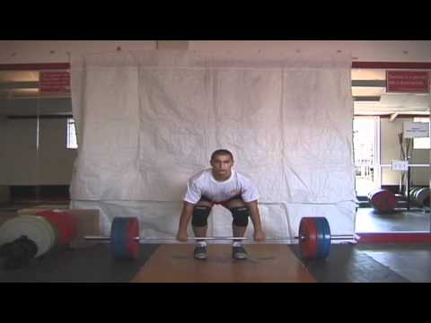 Olympic Weightlifting - Clean technique slow motion Image 1