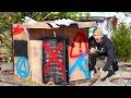 EXPLORING ABANDONED BOX FORT!!