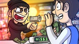 BRUTAL STORE ROBBING!! | GTA V | GTA 5 Online Funny Moments