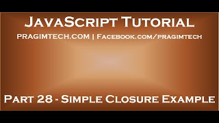 JavaScript closure example