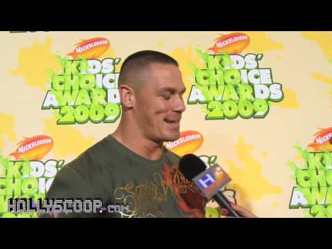 "Hollyscoop.com caught up with John Cena at the 2009 Nickelodeon Kid's Choice Awards to talk about challenging Dwayne ""The Rock"" Johnson, joining the UFC, get..."