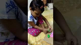 Navya baby .. shows how to do nail art.. creative minds..