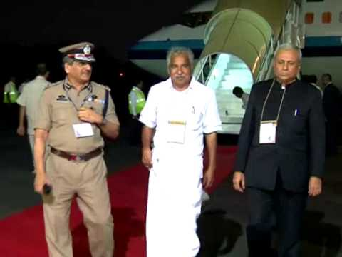 Pravasi Bharathiya Divas - Indian President Shri.Pranab Mukherjee leaves the Kochi Airport