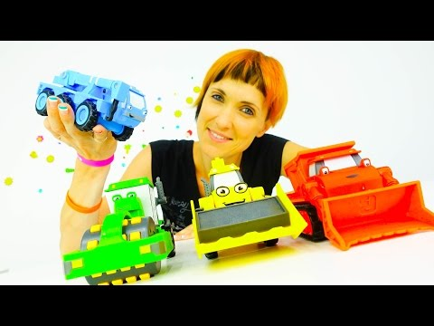 Игрушки из мультика - Машинки Боб Строитель и Маша