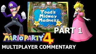 Mario Party 4 Multiplayer Commentary [Toad's Midway Madness – Part 1]