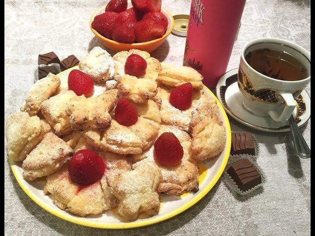 Вкусное воздушное творожное печенье  к завтраку // Curd cookies for breakfast