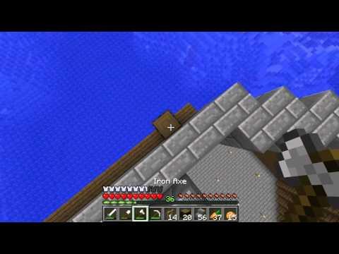 Minecraft Pe Ocean EP.19 S.2 Lucram la acoperis