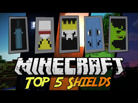 Top 5 Shield Designs! #2 With tutorial! Minecraft 1.9