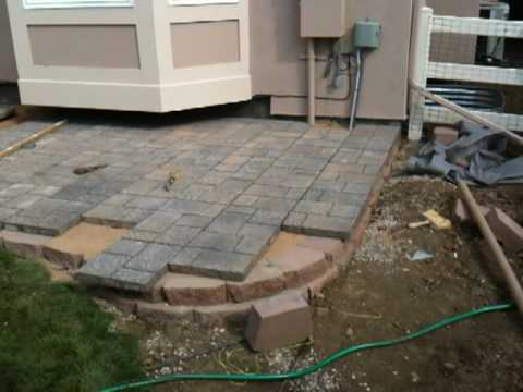 How to install a paver patio Installing a paver patio