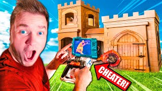 $1 Vs $10,000 NERF HIDE AND SEEK BOX FORT CHALLENGE 📦CHEATER VS NOOB