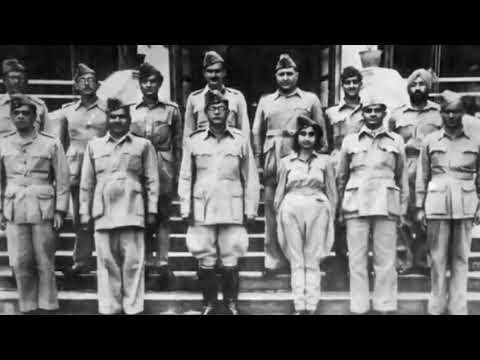 Subhas chandra Bose unseen photos with vandamatarm original song by lata