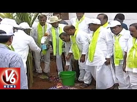 CM KCR & Ministers Plants Saplings In Districts Of Telangana | 4th Phase Haritha Haram | V6 News