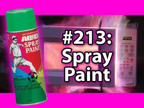 Is It A Good Idea To Microwave A FULL CAN Of Spray Paint!? - Please read the video info!