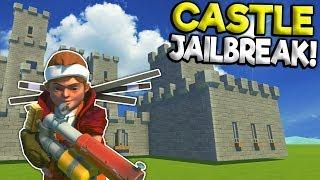 JAILBREAK ESCAPE IN A CASTLE! - Scrap Mechanic Multiplayer Gameplay - Cops VS Robbers