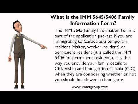 ... the IMM 5645/5406 Family Information Form? The IMM 5645 Family Info