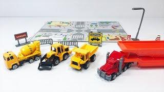 Đồ chơi trẻ em: xe công trình, xe xúc, xe ben, xe trộn bê tông, xe container (Xe cho bé)