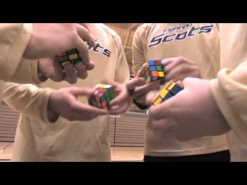 Watch Basketball Team Plays Rubik's