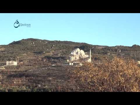 Qasioun News: Lattakia: Regime warplanes mounting airstrikes over Kurd mount's villages 20-2-2016