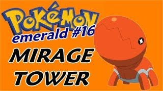 Pokémon Emerald (Detonado - Parte 16) - Mirage Tower e Tempestade de Areia