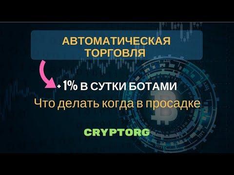 1% в день на Cryptorg / настройки ботов для торговли / что делать когда в просадке
