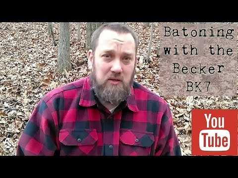 Batoning Wood with Becker BK7.wmv