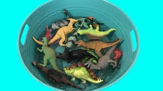 Box of Toys Learning Dinosaurs for Children Learn Colors T Rex