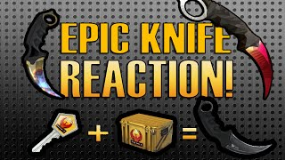 CS:GO - CASE OPENING KNIFE EPIC REACTION!!! #2