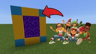 How To Make a Portal to the Subway Surfers Dimension in MCPE (Minecraft PE)