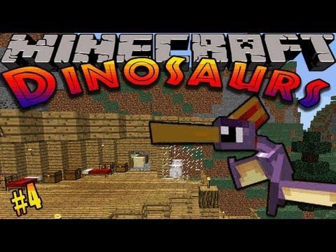 Minecraft Dinosaurs - ( Dinosaur mod ) - Episode 4 - MY DINOSAUR!