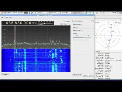 Testing GQRX on FO-29 using the Funcube Dongle