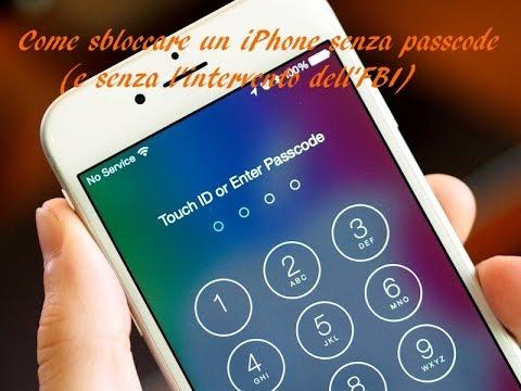 Come sbloccare un iPhone senza passcode (e senza l'intervento dell'FBI)