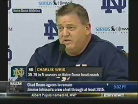 Charlie Weis is the new Allen Iverson: