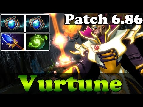 Dota 2 - Patch 6.86 : Vurtune Pro Invoker China with 2 Aether Lens vol 50 - Ranked Match Gameplay