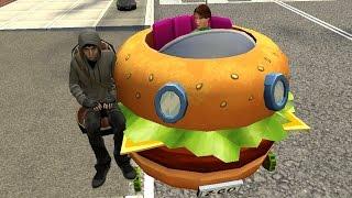 Gmod Funny SPONGEBOB SQUAREPANTS Mod (Patty Wagon in Garry's Mod)
