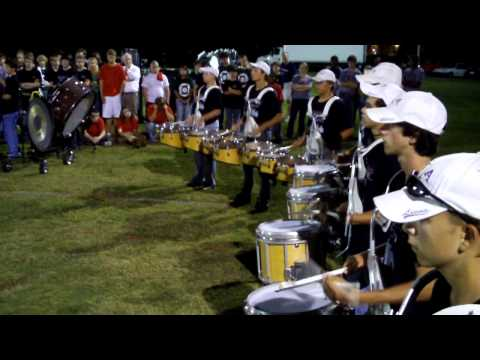Muscle Shoals Drumline Warmup: Throws and Grabs (accent-tap)