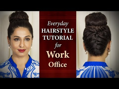 Quick and Easy Hairstyle Tutorials For Work | Step By Step Everyday Hair Updo Videos | Chandni Singh