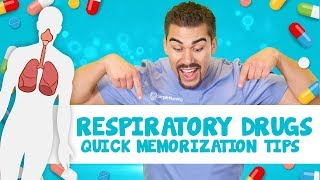 Respiratory drugs quick memorization tips