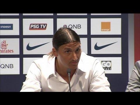 image vidéo Zlatan Ibrahimovic, nouvelle recrue du PSG, répond aux journalistes