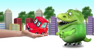 Learning color Balloon with Fun CAR and Dinosaurs   video for Toddlers #SKTV