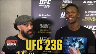 Israel Adesanya sees interim belt as a 'stepping stone' for Robert Whittaker | UFC 236 | ESPN MMA