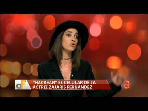 Hackean el celular de la actriz Zajarís Fernández