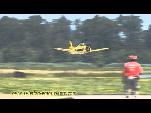 2011 Gathering of Eagles XV Air Show North American T-28 Trojan Sunday flight