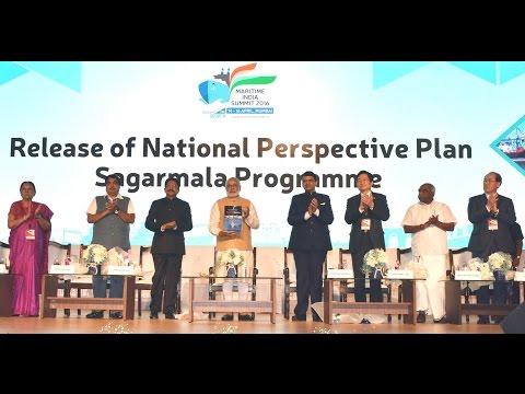 PM Modi at the inauguration of Maritime India Summit 2016 in Mumbai